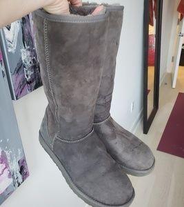 UGG Women's sz 10 Tall Grey Classic Boot